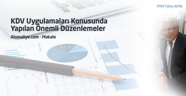KDV Uygulamaları Konusunda Yapılan Önemli Düzenlemeler (10)