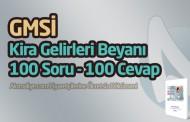 Kira Gelirleri Beyanı (GMSİ) 100 Soru - 100 Cevap