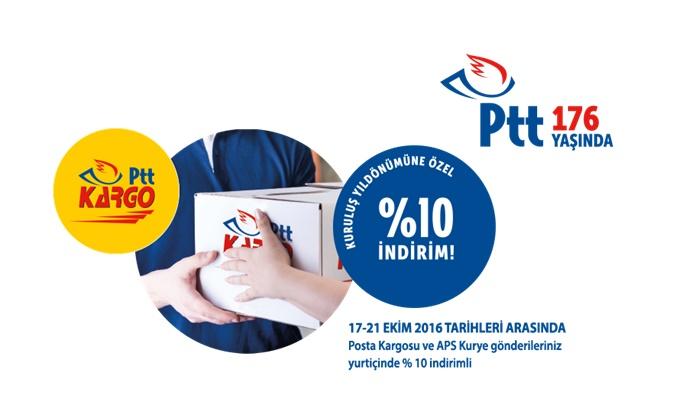 PTT 17-21- Ekim Tarihleri Arasında Yüzde 10 İndirimli