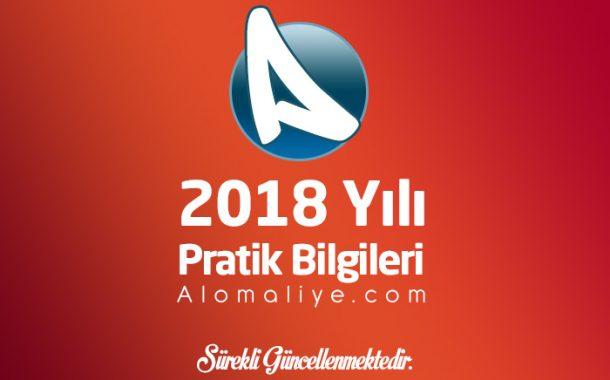 2018 Yılı Pratik Bilgiler