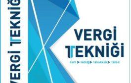 Yazarımız Sayın Muharrem ÖZDEMİR'in Vergi Tekniği Kitabı Çıktı!